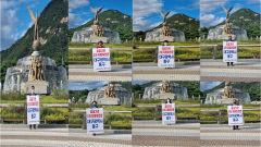 대구 동구의회, 2차 공공기관 유치 위한 청와대 릴레이 1인 시위 펼쳐