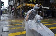 태풍 강타한 홍콩…직장·학교 폐쇄