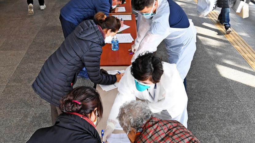 파티마 병원 찾은 시민들