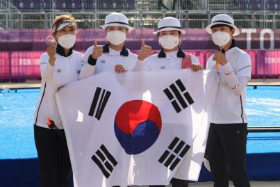 [도쿄 올림픽] 한국 여자양궁 단체전 올림픽 9연패 달성...안산 2관왕