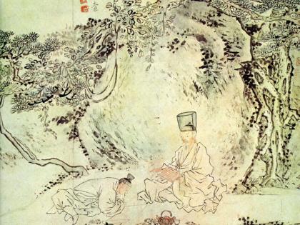 [김남희의 그림 에세이] 이인상 '송하수업도'…소나무 그늘 아래 대면수업…새삼 느끼는 '일상의 소중함'